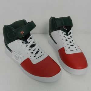 FILA Mens RED WHITE and Green Hightop Sneaker 11